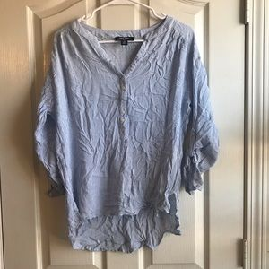 🍀2/$20 Nine West Women's Roll Tab Blouse (Small)